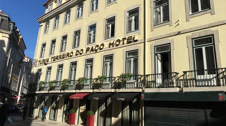 Lissabon, Hotel Turim Terreiro do Paço, Façade hotel