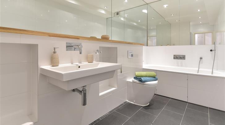 Londen, Apartments Aldgate, Appartement badkamer