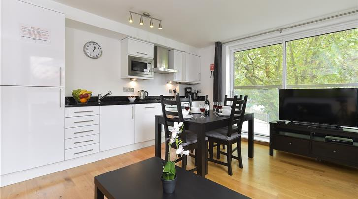 Londen, Apartments Aldgate, Appartement keuken