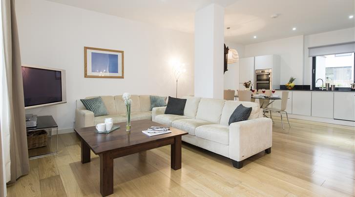 Londen, Apartments Aldgate, Appartement woonkamer