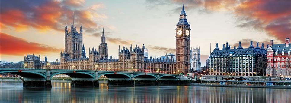 Londen, Big Ben en Thames Londen