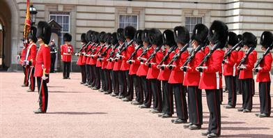 Londen Buckinham Palace changing of the guards