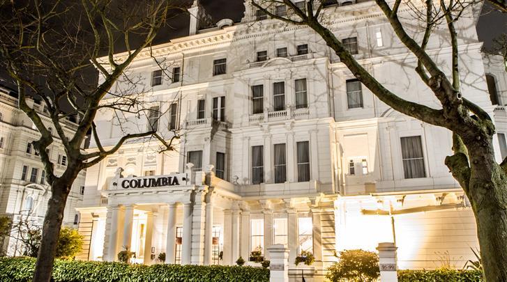 Londen, Hotel Columbia, Façade hotel