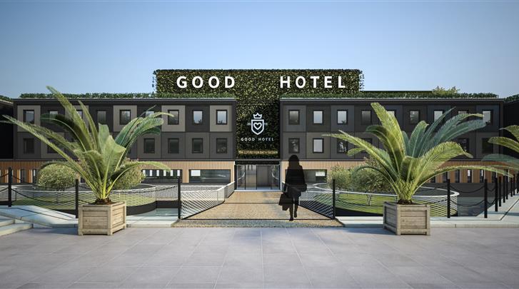 Londen, Hotel Good London, Façade hotel