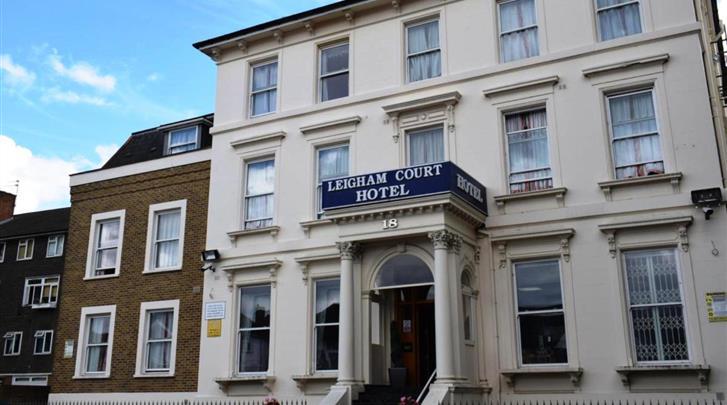 Londen, Hotel Leigham Court, Façade hotel