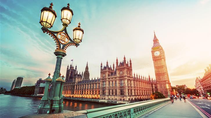 Londen, Hotel Leigham Court, Half uur per OV naar Westminster Bridge en Big Ben
