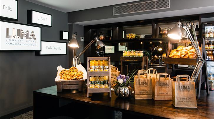 Londen, Hotel Luma Concept, Ontbijt
