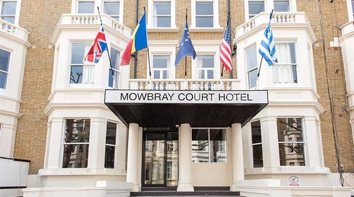 Londen, Hotel Mowbray Court, Façade hotel
