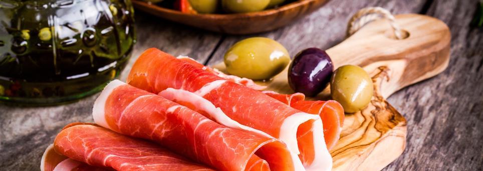 Madrid, Ham en olijven eten Madrid