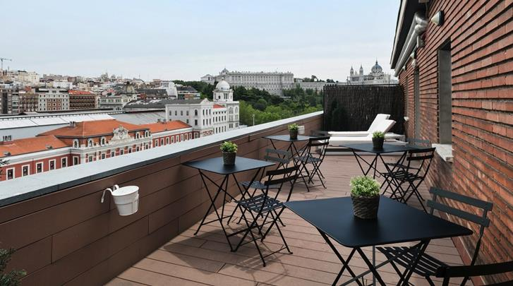 Madrid, Hotel Acta Madfor, Terras
