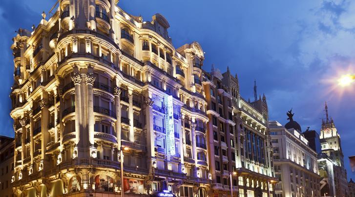 Madrid, Hotel Atlantico , Façade hotel