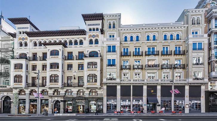 Madrid, Hotel Catalonia Gran Via, Façade hotel