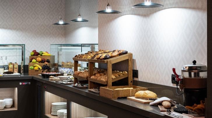 Madrid, Hotel Catalonia Gran Via, Ontbijtbuffet