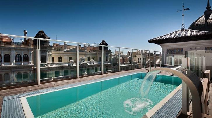 Madrid, Hotel Catalonia Gran Via, Zwembad