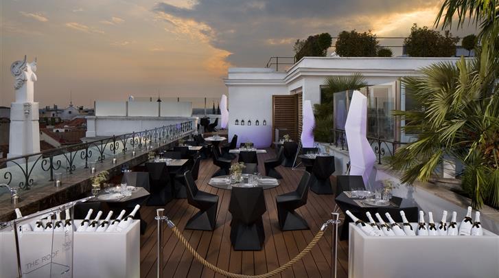 Madrid, Hotel ME Madrid Reina Victoria, Dakterras restaurant
