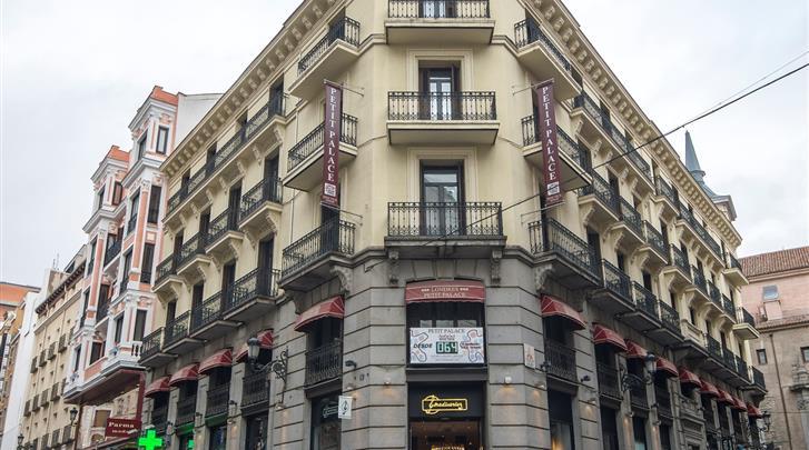Madrid, Hotel Petit Palace Preciados, Façade hotel