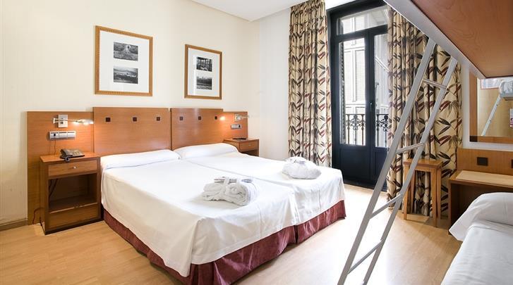 Madrid, Hotel Petit Palace Preciados, Familiekamer