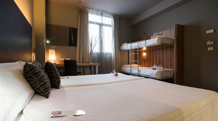 Madrid, Hotel Petit Palace Tres Cruses, Familiekamer