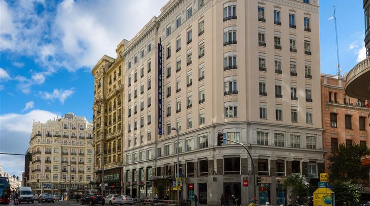 Madrid, Hotel Tryp Gran Via, Façade hotel