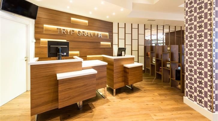 Madrid, Hotel Tryp Gran Via, Receptie
