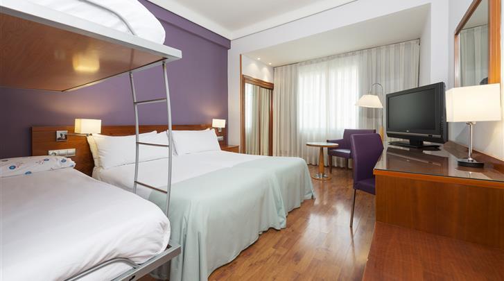 Madrid, Hotel Tryp Madrid Centro, Familiekamer