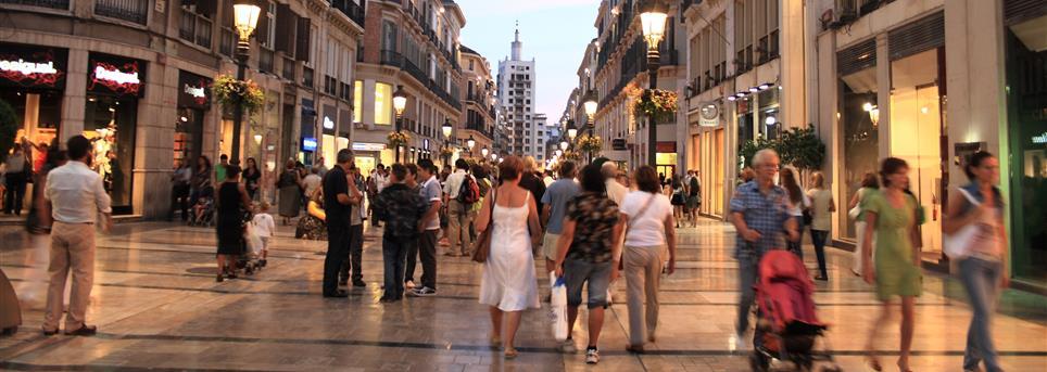 Málaga, Winkelstraat Malaga