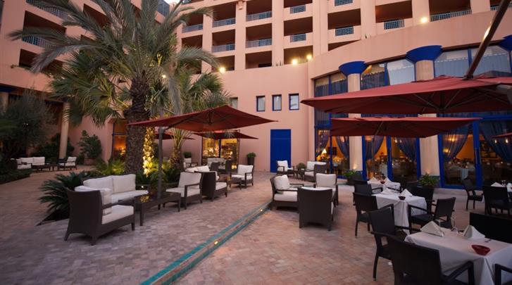 Marrakech, Hotel Atlas Medina & Spa, Terras