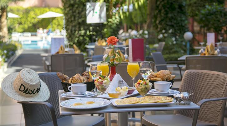 Marrakech, Hotel Diwane & Spa, Ontbijtbuffet