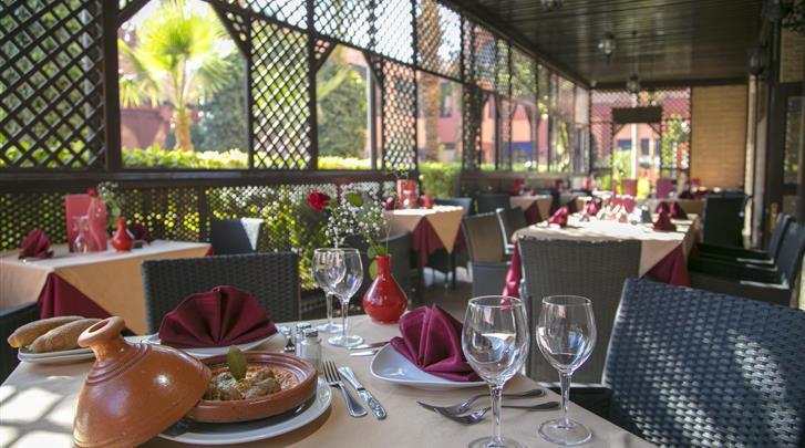 Marrakech, Hotel Diwane & Spa, Terras