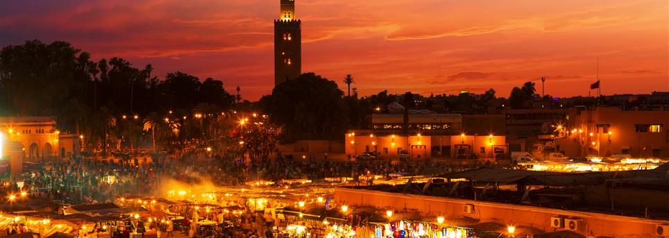 Marrakech, Marrekech by night jemaa el fna