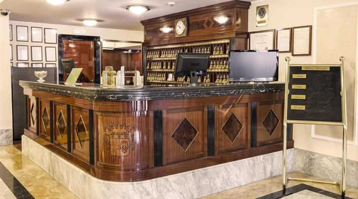 Milaan, Hotel Doria Grand, Receptie