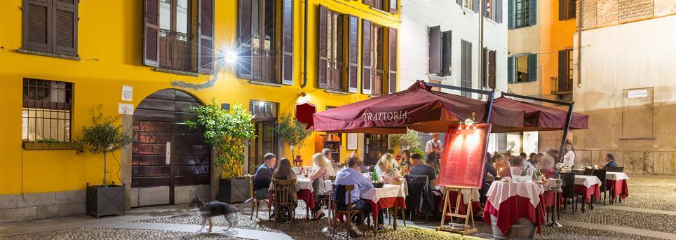 Milaan, Restaurant terras Milaan