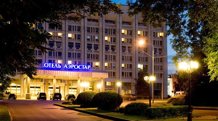 Moskou, Hotel Aerostar, Façade hotel