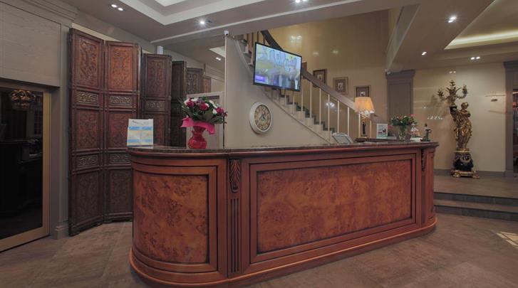Moskou, Hotel Arbat House, Receptie