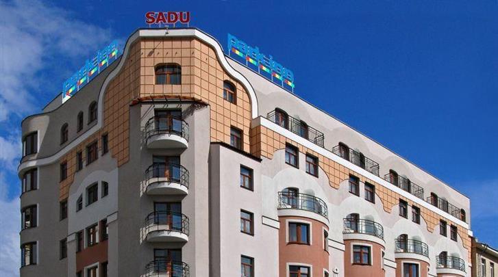 Moskou, Hotel Park Inn Sadu, Façade hotel