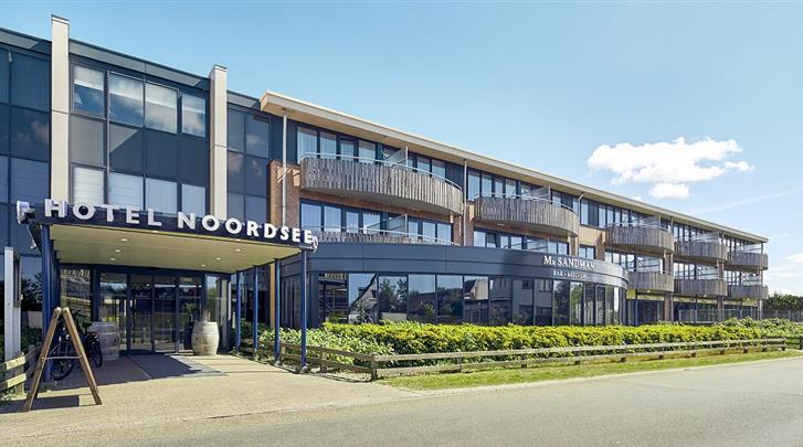 Nederland, Ameland, Hotel Noordsee, Façade hotel