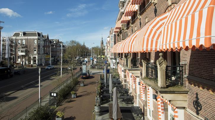 Nederland, Amsterdam, Hotel The Manor, Façade hotel