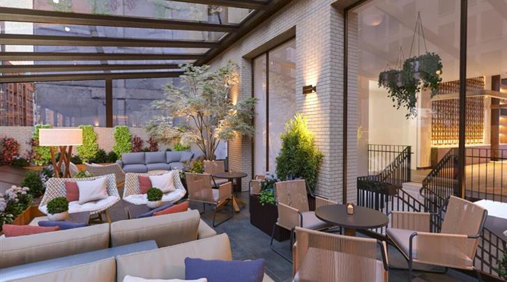 New York, Hotel Arlo Midtown Times Square, Atrium lounge