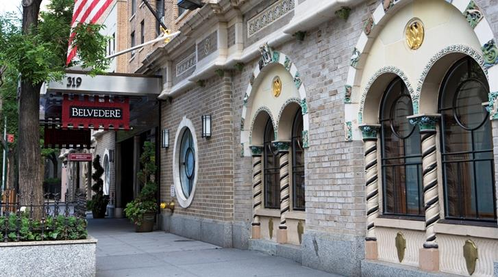 New York, Hotel Belvedere, Façade hotel