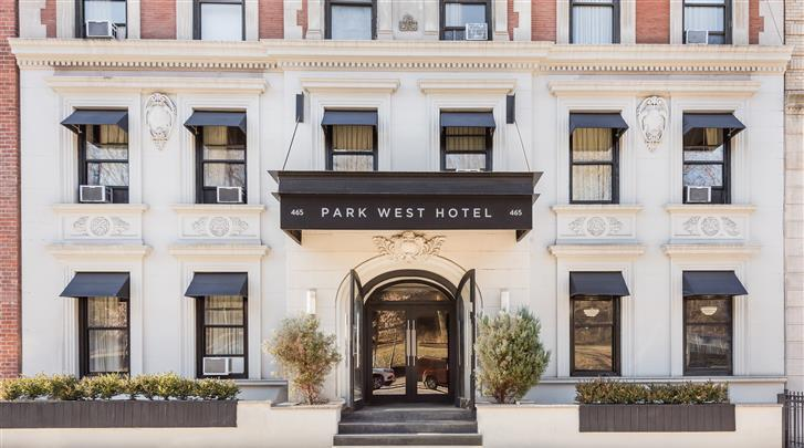 New York, Hotel Park West, Façade hotel