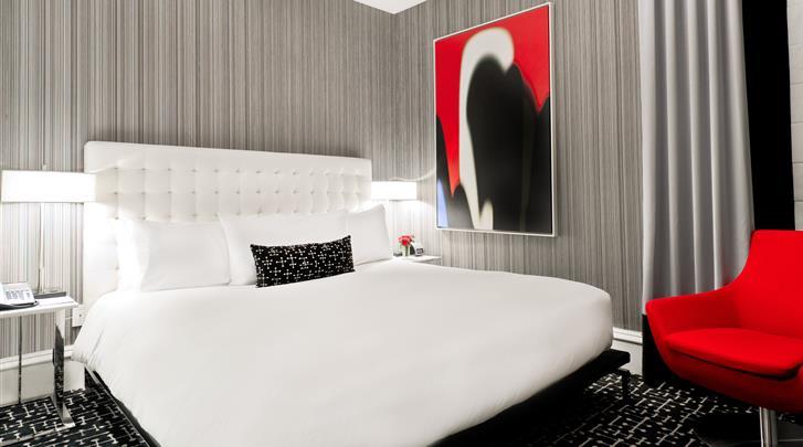New York, Hotel The Moderne, Deluxe kamer