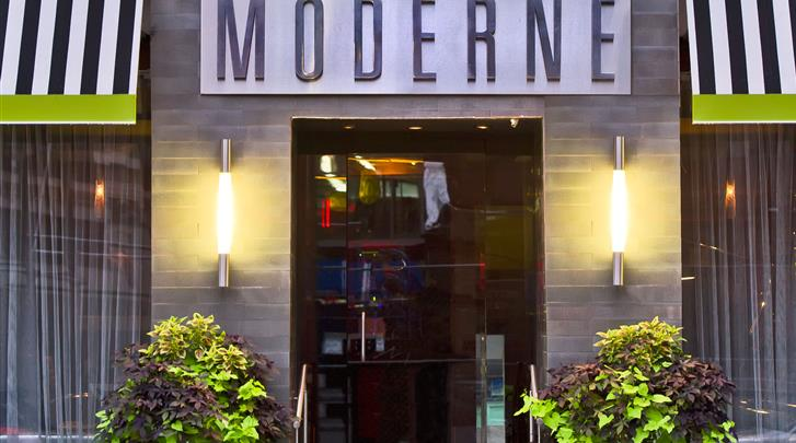 New York, Hotel The Moderne, Façade hotel