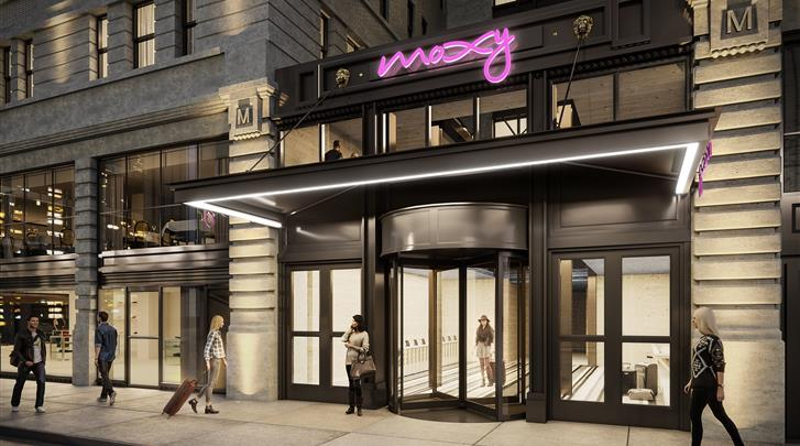 New York, Hotel The Moxy NYC Times Square , Façade hotel
