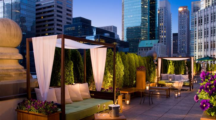 New York, Hotel The Roosevelt, Rooftop Loungebar