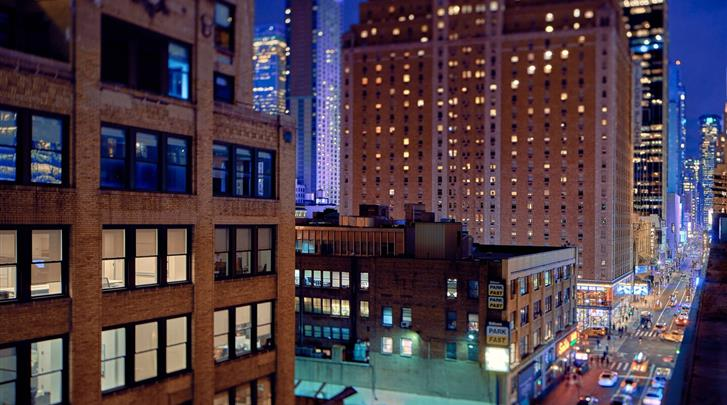 New York, Hotel Towneplace Suites New York Times Square, Uitzicht vanaf de Rooftop Bar