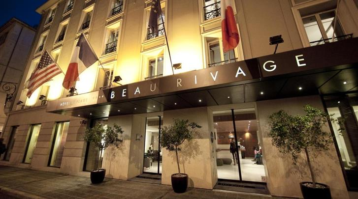 Nice, Hotel Beau Rivage, Façade hotel