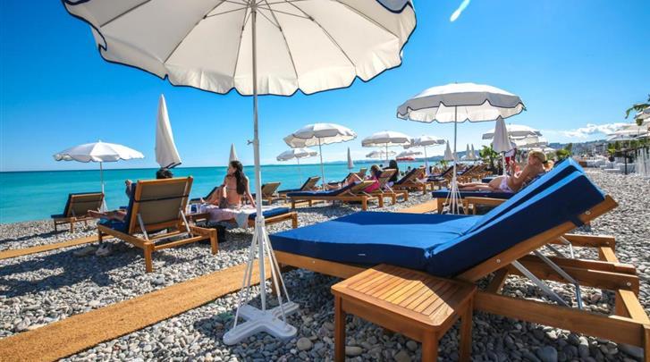 Nice, Hotel Beau Rivage, Strand