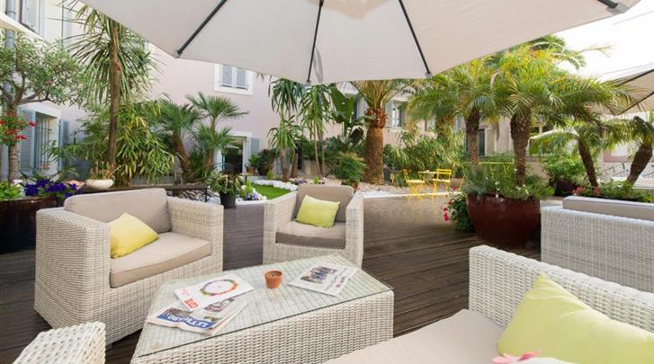 Nice, Hotel Beau Rivage, Terras