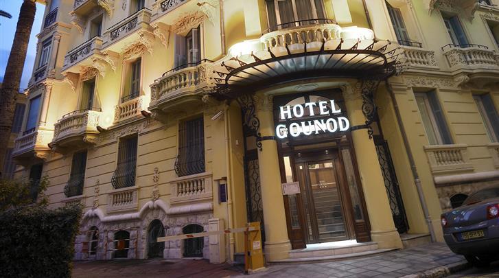 Nice, Hotel Gounod, Façade hotel