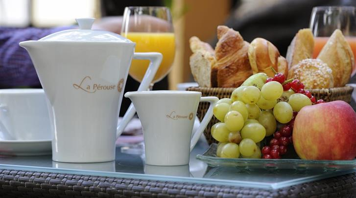 Nice, Hotel La Perouse, Ontbijt
